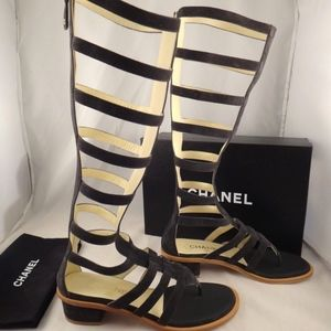 5adbc9a70a5 CHANEL Shoes - Chanel 15S Grey Suede Leather Strappy Zipper